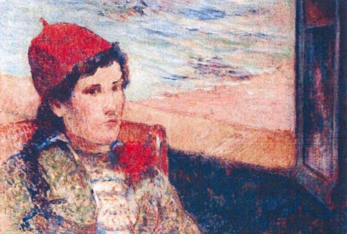 Женщина перед открытым окном, Поль Гоген. / Фото: google.com.