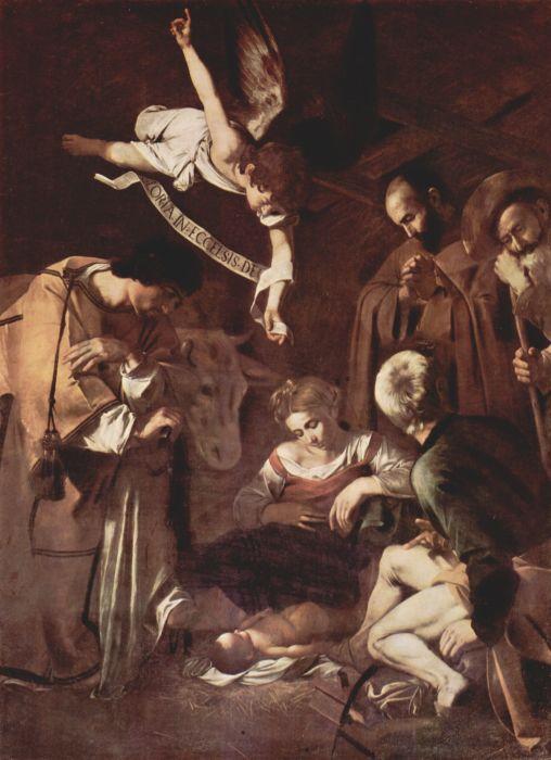 Рождество со святым Франциском и святым Лаврентием, Караваджо. / Фото: katholischlogisch.com.
