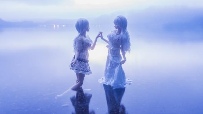 Аниме героини в работах Suzuhico и AZURE.