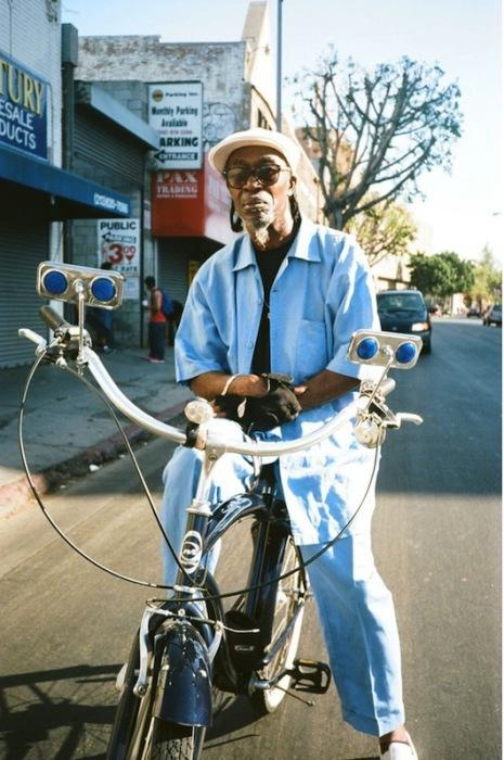 Кейн, Король Уолл-Стрит, на своем велосипеде. Автор фото: Geraldine Freyeisen.