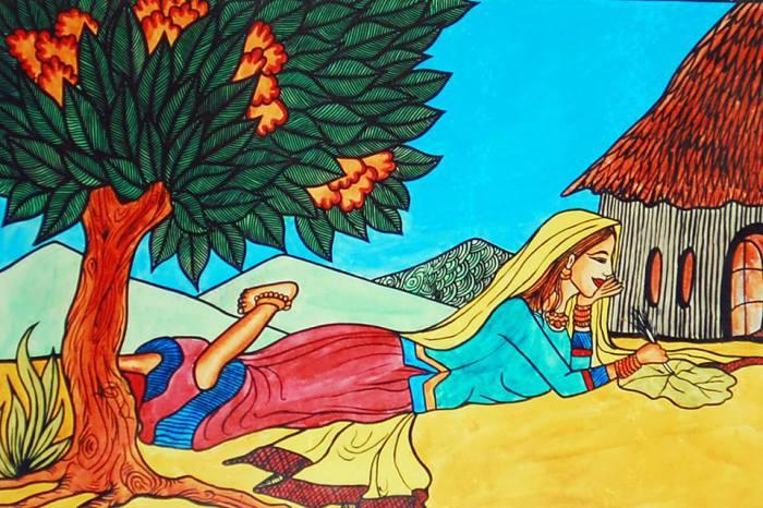 Трудно поверить в то, что эти картины написаны женщиной, которая родилась без рук. Работы Свапны Августин (Swapna Augustine).
