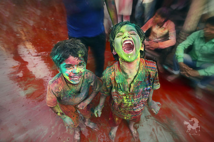 Фестиваль Радости - Холи, Барсана, Индия. Автор: Swarup Chatterjee.
