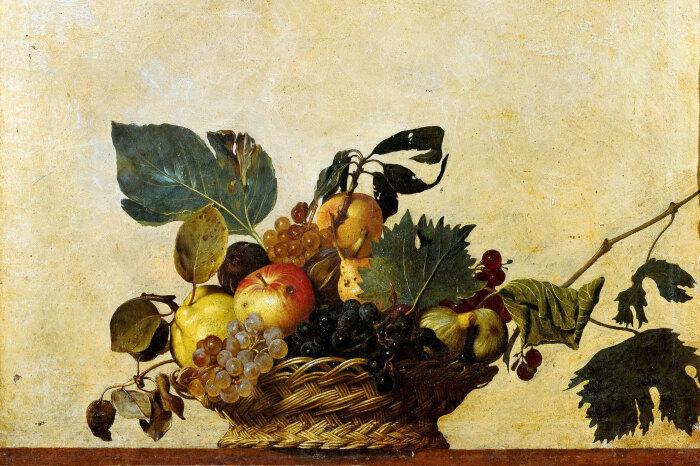 Корзина фруктов Микеланджело Меризи да Караваджо, 1599 год.  Фото: milanoguida.com.