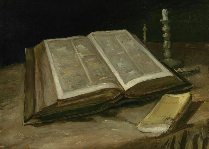 Натюрморт с Библией, Винсент ван Гог, 1885 год. \ Фото: displate.com.