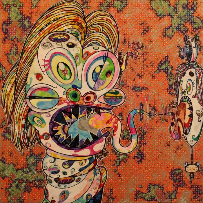 «Оммаж Фрэнсису Бэкону», левая часть диптиха, 2016 год. Автор: Takashi Murakami.