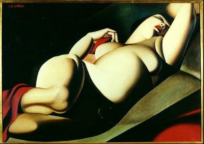 Прекрасная Рафаэлла. 1927 год. Автор: Тамара де Лемпицка (Tamara de Lempicka).