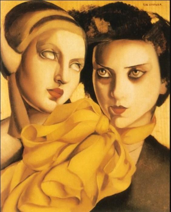 Молодые дамы, 1927 год. Автор: Тамара де Лемпицка (Tamara de Lempicka).
