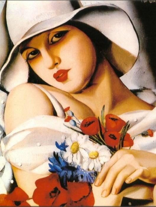В середине лета, 1928 год. Автор: Тамара де Лемпицка (Tamara de Lempicka).