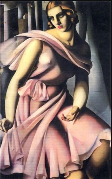 Портрет Романы де Ла Саль, 1928 год. Автор: Тамара де Лемпицка (Tamara de Lempicka).