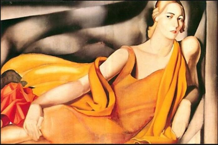 Женщина в жёлтом платье,1929 год. Автор: Тамара де Лемпицка (Tamara de Lempicka).
