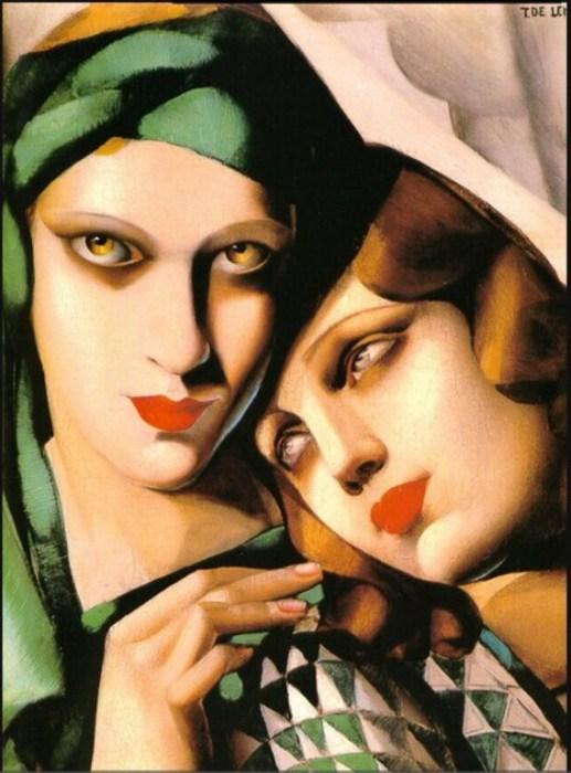 Зелёный тюрбан, 1930 год. Автор: Тамара де Лемпицка (Tamara de Lempicka).
