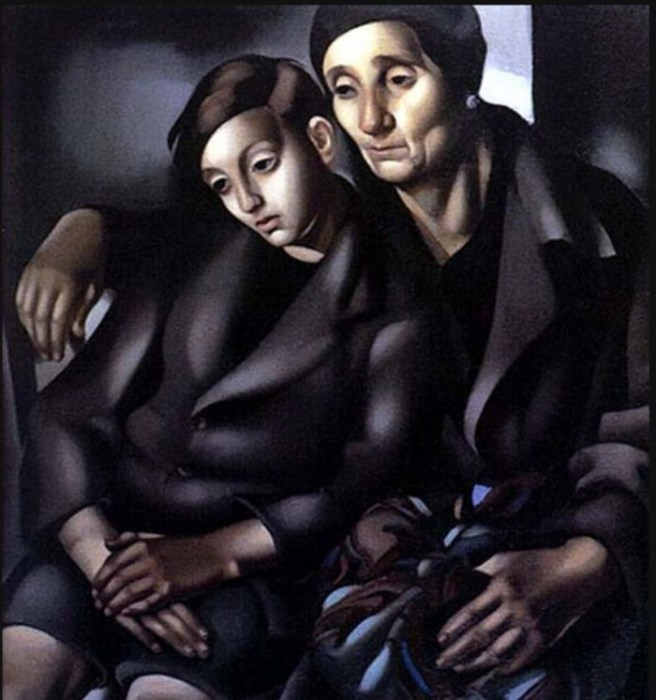 Беженцы, 1937 год. Автор: Тамара де Лемпицка (Tamara de Lempicka).