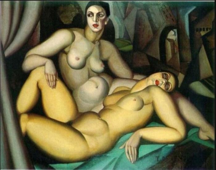 Перспектива, 1923 год. Автор: Тамара де Лемпицка (Tamara de Lempicka).