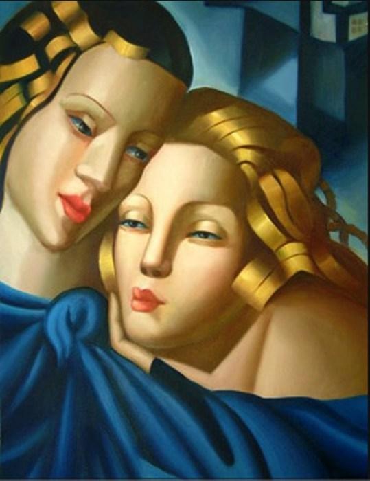 Девушки, 1946 год. Автор: Тамара де Лемпицка (Tamara de Lempicka).