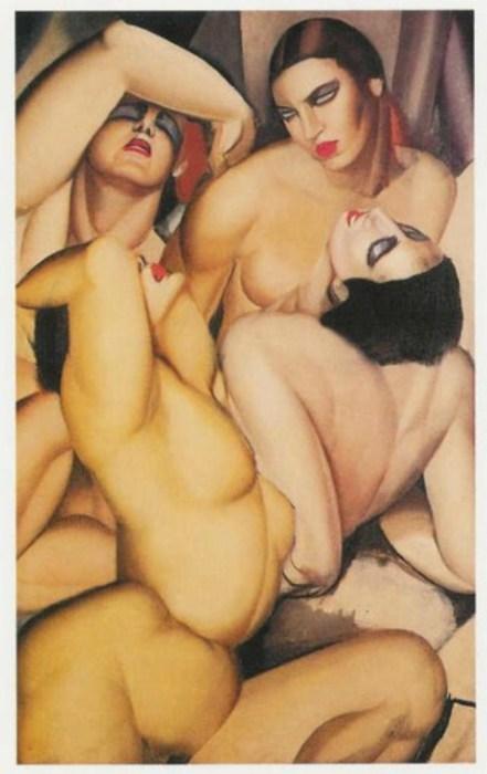 Группа из четырёх обнажённых. Автор: Тамара де Лемпицка (Tamara de Lempicka).