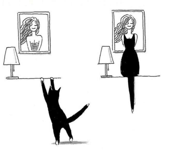 Девушка в чёрном платье. Автор: Tango.