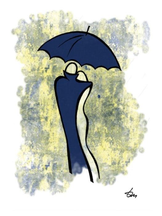 Влюблённые в дождь. Автор: Татьяна Марковцева.