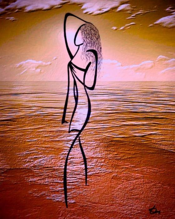 Влюблённая в закат. Автор: Татьяна Марковцева.