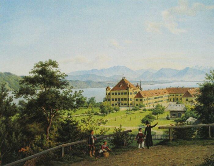 Вид на Поссенхофен, где Сисси провела свое детство. \ Фото: burgerbe.de.