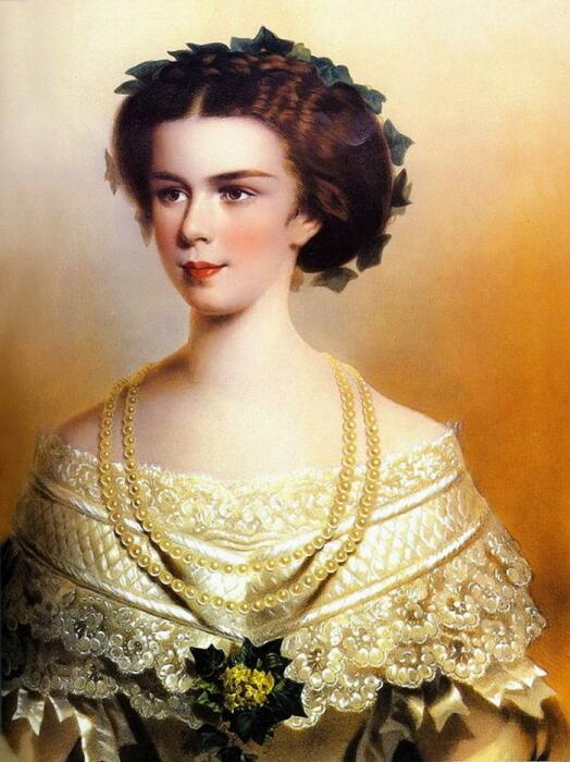 Принцесса Елизавета Баварская, неизвестный художник, 1854 год. \ Фото: maxpark.com.