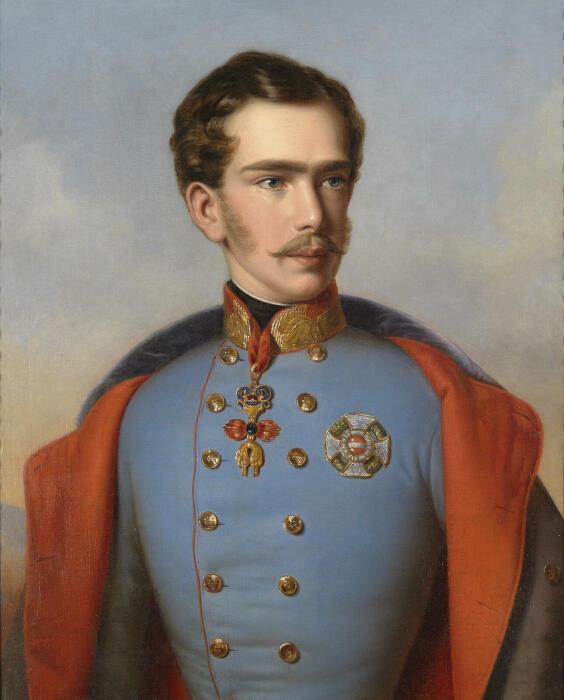 Портрет молодого императора в военном мундире, 1855 год. \ Фото: in.pinterest.com.