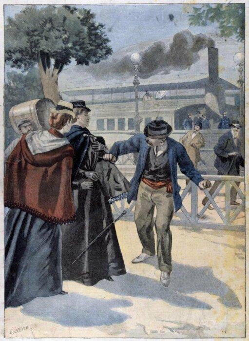 Иллюстрация убийства императрицы Сисси. \ Фото: twitter.com.
