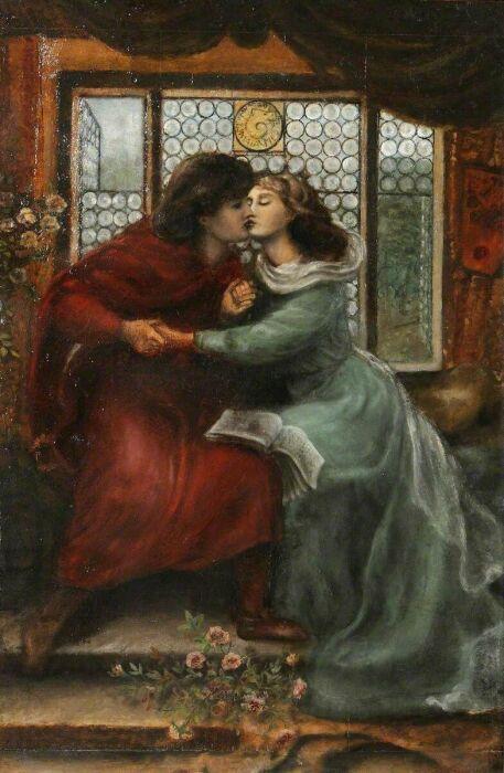 Паоло и Франческа да Римини, Данте Габриэль Россетти. \ Фото: pinterest.com.