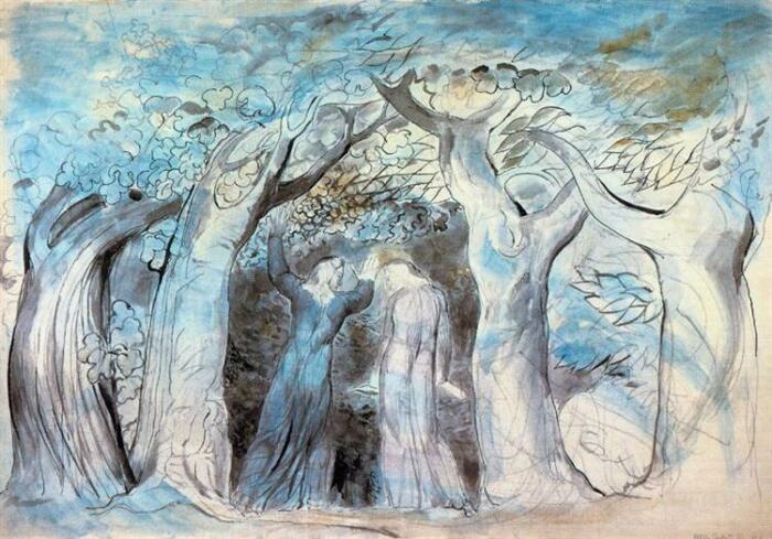 Ад, иллюстрация к поэме Данте «Божественной комедии», Уильям Блейк. \ Фото: wikiart.org.