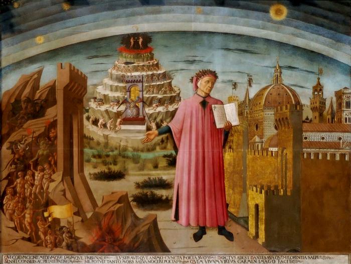 Данте и его «Божественная комедия». \ Фото: factinate.com.