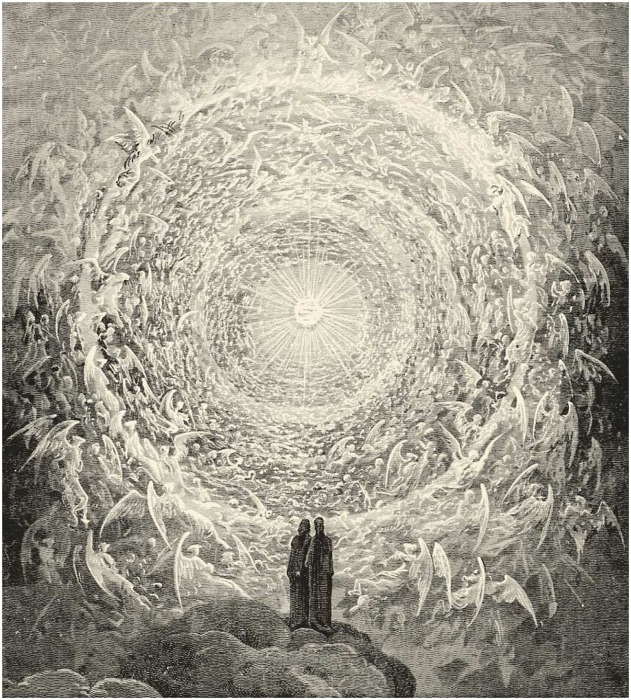 Рай, иллюстрация к «Божественной комедии» Данте Алигьери, Гюстав Доре (1832-1883 гг.)