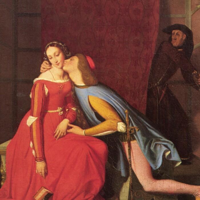 Паоло и Франческа, фрагмент из «Божественной Комедии», Жан Огюст Доминик Энгр. \ Фото: boards.fireden.net.