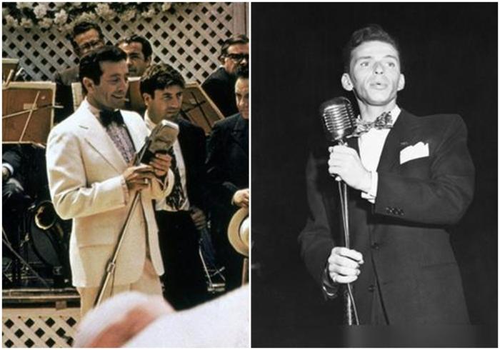 Слева направо: Джонни Фонтейн и Фрэнк Синатра. \ Фото: google.com.
