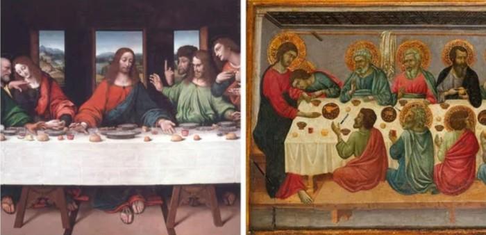 Иисус сидит посередине, но должен был быть во главе стола. \ Фото: yandex.ua.