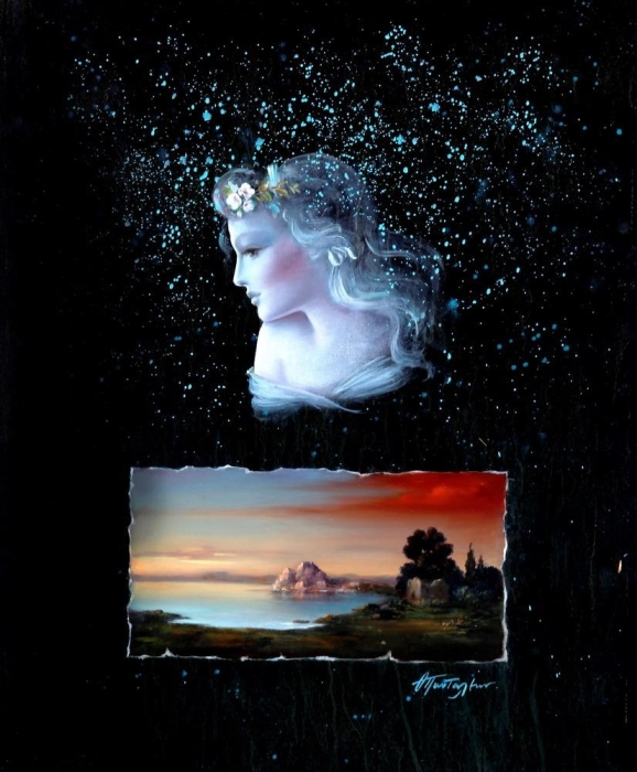 Художник-сюрреалист пишет один и тот же женский образ на всех своих причудливых картинах