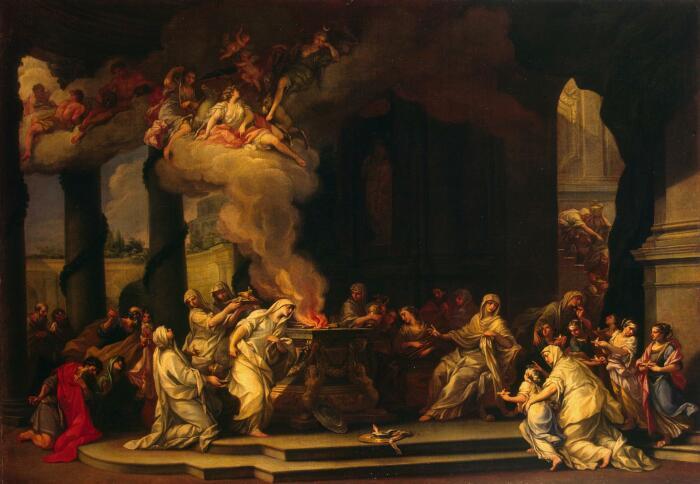 Посвящение новой Девы-весталки, Алессандро Маркезини, 1664-1738 гг. \ Фото: tumgir.com.
