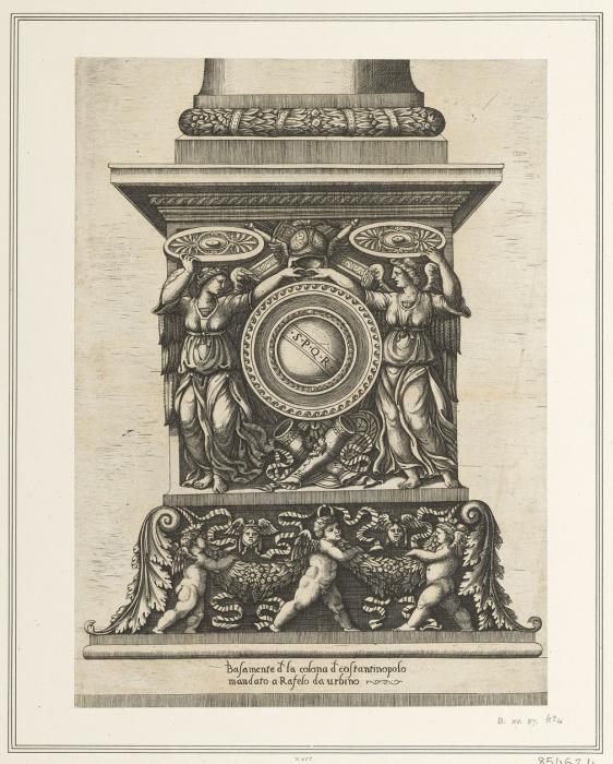 Основание колонны Феодосия в Константинополе. \ Фото: albert.rct.uk.