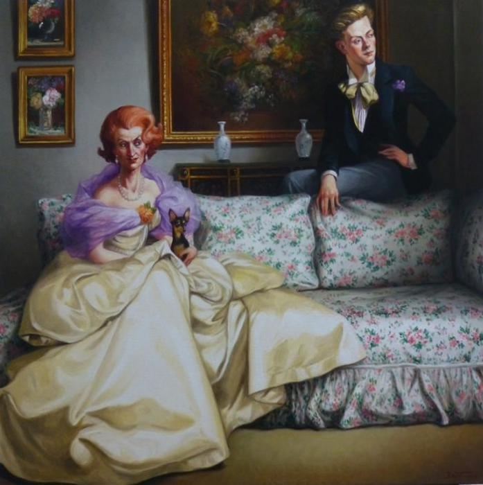 Дама с собачкой. Автор: Thierry Bruet.