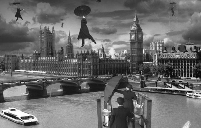 Чёрные зонтики. Автор: Thomas Barbey.