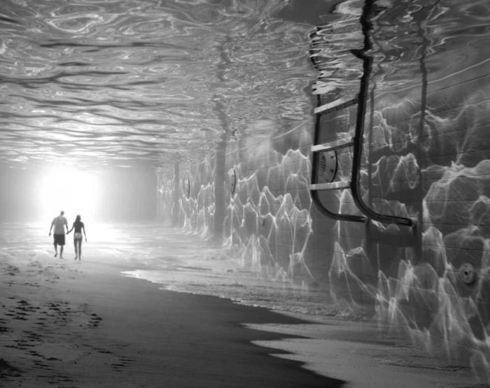 Свет в конце подводного тоннеля. Автор: Thomas Barbey.