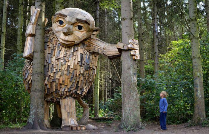 Лесной человечек, Копенгаген. Автор: Thomas Dambo.