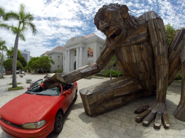 Машина Вилсона, Сан-Хуан, Пуэрто-Рико. Автор: Thomas Dambo.