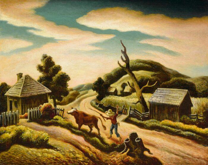 Извилистая дорога, Томас Харт Бентон, 1938 год. \ Фото: sothebys.com.