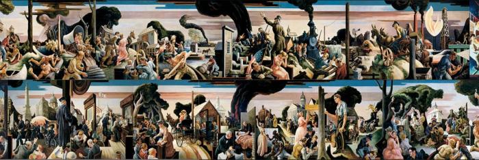 Социальная история Индианы, Томас Харт Бентон, 1933 год. \ Фото: google.com.