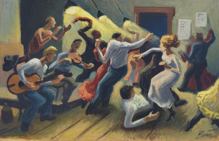 Этюд Swing Your Partner, Томас Харт Бентон, 1945 год. \ Фото: pinterest.com.