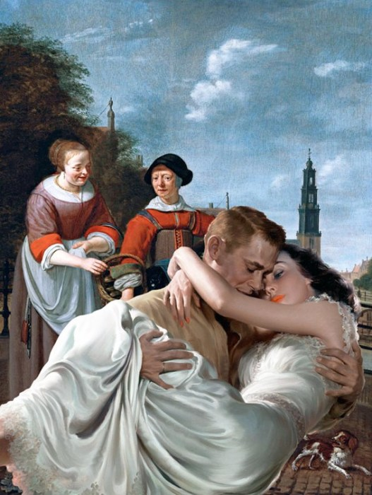 Настоящий романс в фламандском пейзаже. Автор: Thomas Robson.