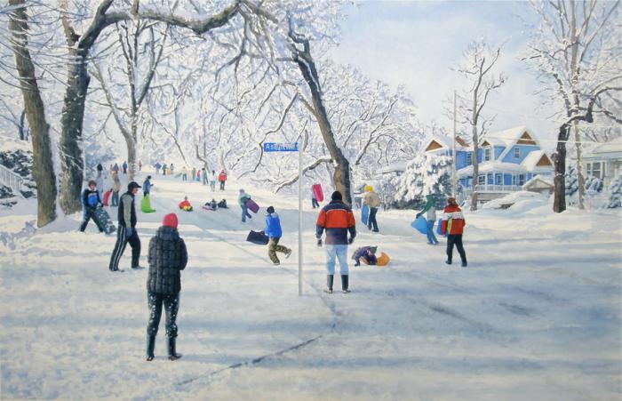 Зимнее развлечение. Автор: Tim Gardner.