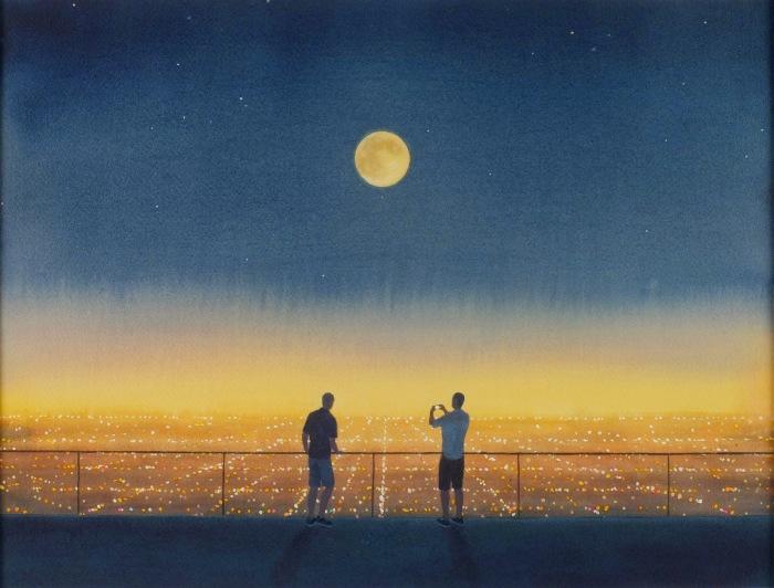 Мужчины с Луной. Автор: Tim Gardner.