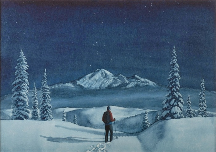 Лыжник. Автор: Tim Gardner.