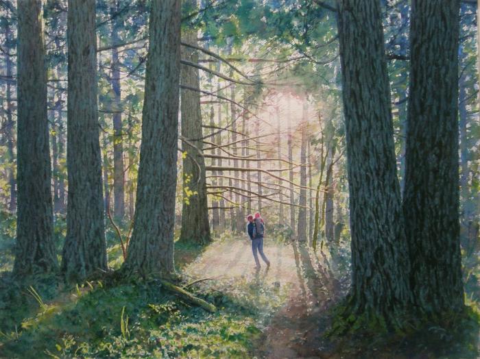 В лесу. Автор: Tim Gardner.