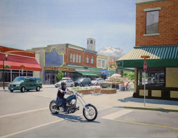Мотоциклист. Автор: Tim Gardner.
